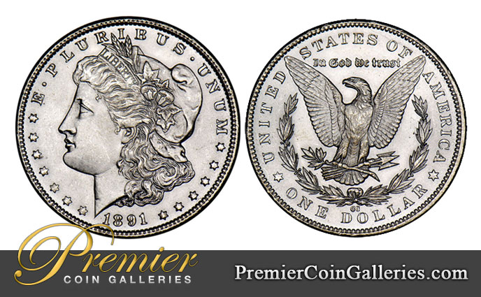 Premier Coin Galleries 187 Morgan Silver Dollar Mint Marks